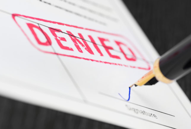 Real Estate Mistakes - Loan Denied